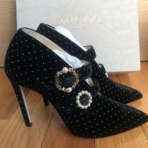 Jimmy Choo Larissa 100 Glitter Spotted Shoes